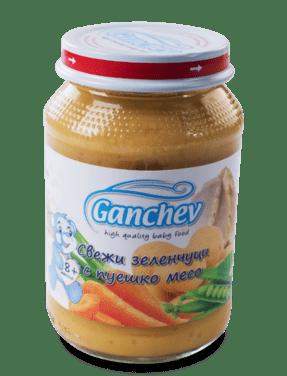 Ганчев Свежи зеленчуци с пуешко месо 190 гр.